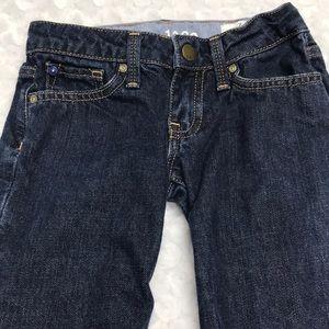 Gap Kids Dark Wash Adjustable Waist Boot Cut Jeans